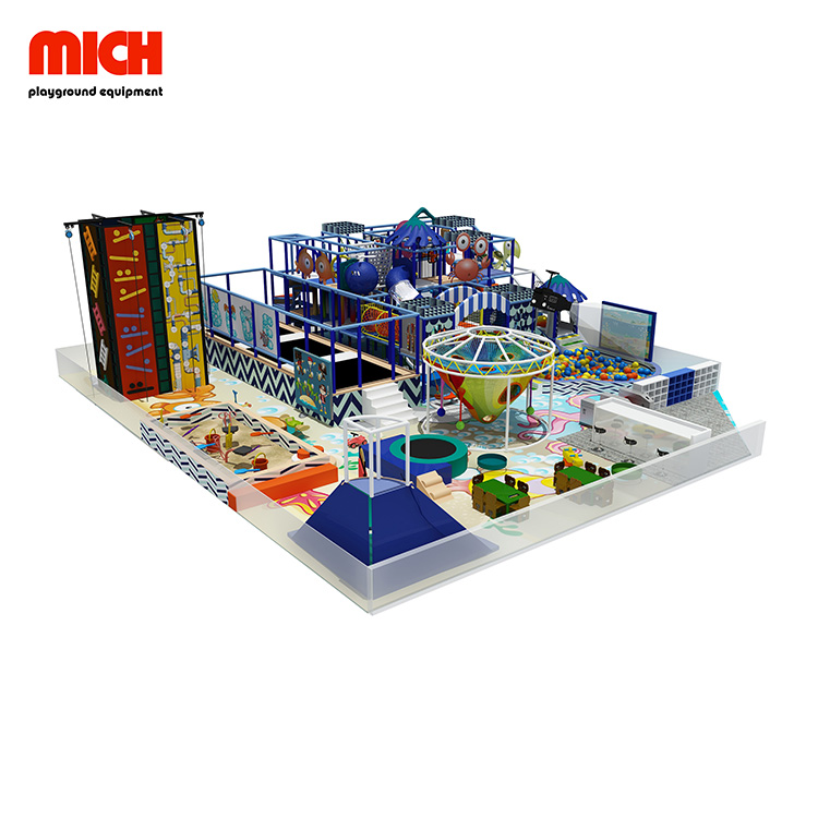 Manufacture Kids Indoor Playground with Trampoline for Sale
