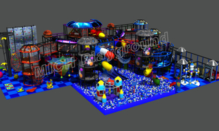 Space Theme Commercial Kids Indoor Soft Play Zone
