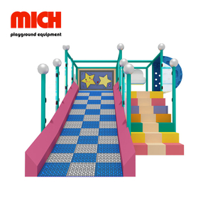 Kids Indoor Donat Slide with Soft Stair for Sale
