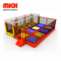 Small Indoor Bounce Trampoline Park with Ninja Course