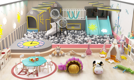 Mich Customized Cute Animal Theme Kids Indoor Soft Play Area