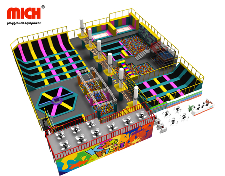 Mich Customized Indoor Trampoline Park with Sky Walk