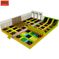 Commercial indoor trampoline amusement park for children