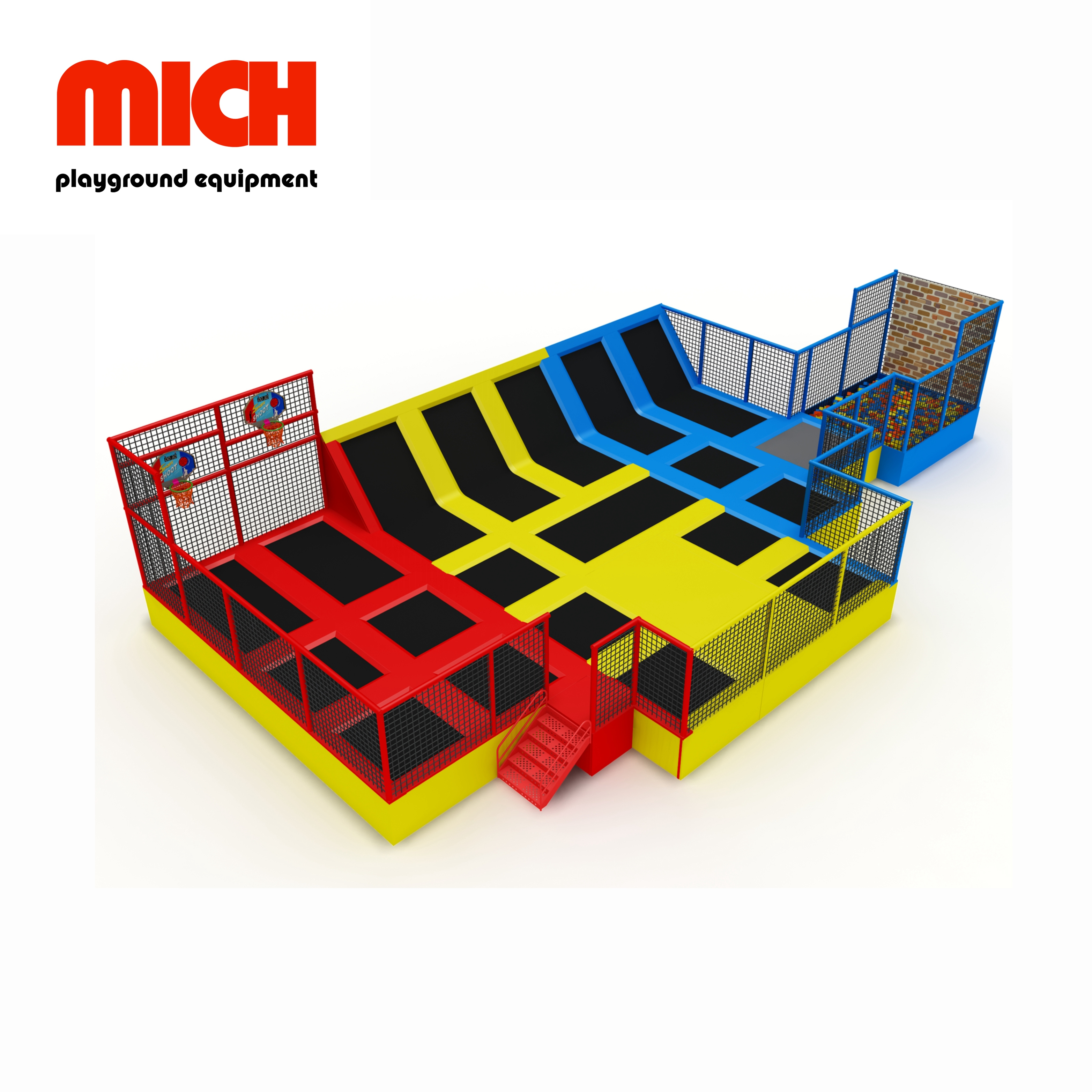 Commercial Gymnastics Indoor Trampoline Park for Kids