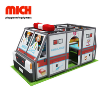 Ambulance Car Theme Indoor Soft Mobile Playground for Kids