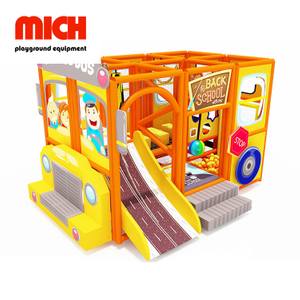 Kids Indoor Soft Mobile Playground with Fiberglass Slide