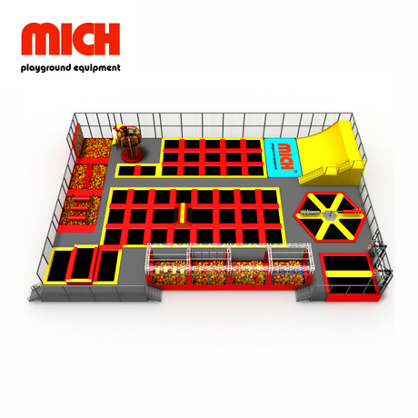 Medium Indoor Commercial Trampoline Family Entertainment Park