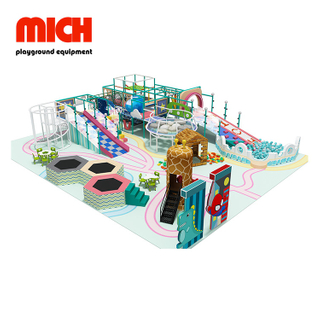 Commercial Kids Indoor Playground with Trampoline for Sale