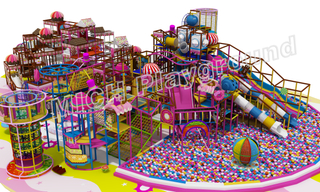 Giant Candyland Toddler Indoor Play Centre with Big Ball Pit