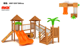 MICH Outdoor Wooden Playhouse for Toddler