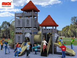 Toddler Outdoor Playground with Tunnel Net