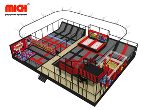 China Manufacture Indoor Trampoline Park with Zipline