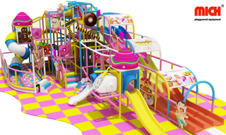 Candy Theme Kids Zone Indoor Soft Play Center for Kids Cafe
