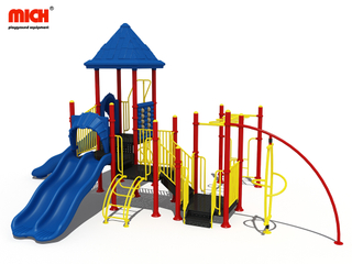 Outdoor Jungle Gym with Slides Playground