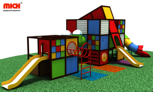 Kids Outdoor Modular Playground with Slides