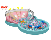 Mich Indoor Multifunctional 5 Lanes Slide with Big Ball Pool