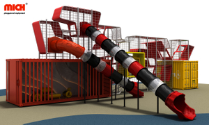 Outdoor Tube Slides with Modern Frame Structure