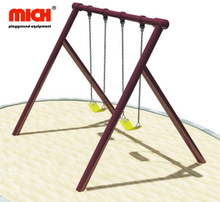Playground Equipment Outdoor Double Seats Kids Swing Set for Sale