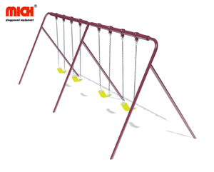 Outdoor Playground Four Seats Baby Swing Set for Sale