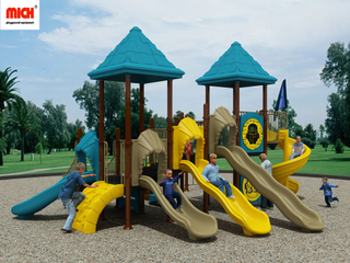 5 Lanes Slides Children Outdoor Playground