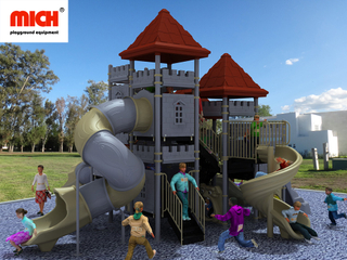 MICH Children Outdoor Multiple Slides Playground