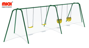 Custom Color Kids Outdoor Four Seats Swing Set for Sale
