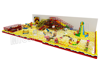 Large Kids Ball Pit Zone with Playhouse Maze